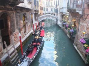 Gondole sur les canaux de Venise